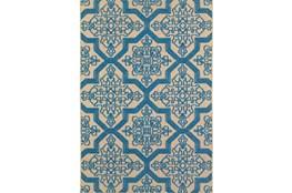 118X154 Outdoor Rug-Blue Aztec