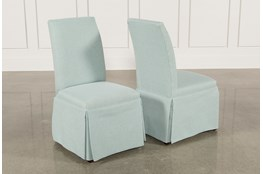Garten Aqua Skirted Side Chairs Set Of 2