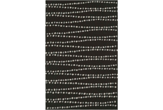 60X90 Rug-Black Strands - 360