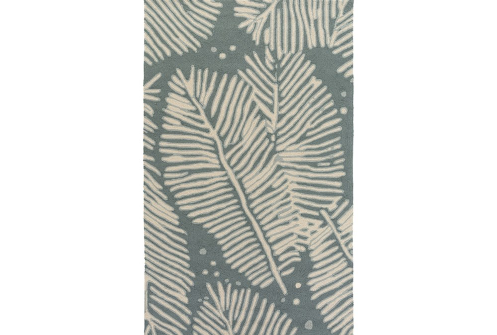 60X90 Outdoor Rug-Baltic Blue Palm Frond