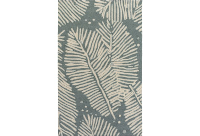 60X90 Outdoor Rug-Baltic Blue Palm Frond - 360