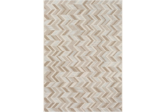 63X91 Outdoor Rug-Baltic Blue Herrringbone - 360