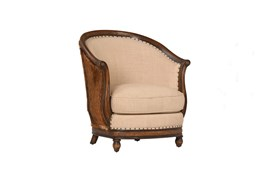 Brown Round Occassional Chair