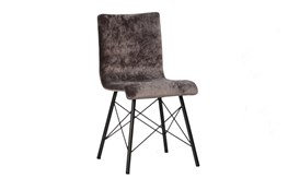 Plywood & Metal Brown Dining Chair