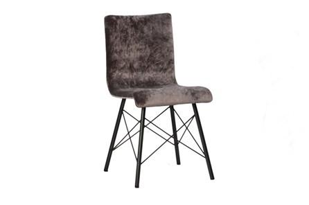 Plywood & Metal Brown Dining Chair