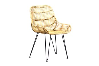 Natural Rattan Metal Chair
