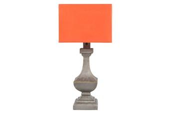 Outdoor Table Lamp-Architectural Column Orange