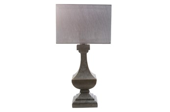 Outdoor Table Lamp-Architectural Column Grey