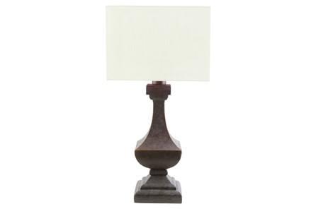 Outdoor Table Lamp-Architectural Column White