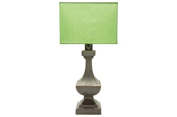 Outdoor Table Lamp-Architectural Column Green