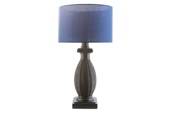 Outdoor Table Lamp-Island Woven Blue