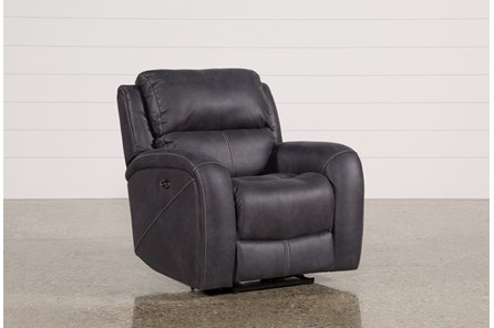 Deegan Charcoal Power Recliner