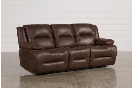 Calder Brown Power Reclining Sofa