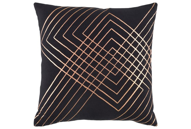 Accent Pillow-Intersecting Lines Black 20X20 - 360