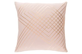 Accent Pillow-Intersecting Lines Blush 20X20