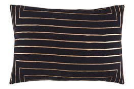 Accent Pillow-Linear Black 19X13