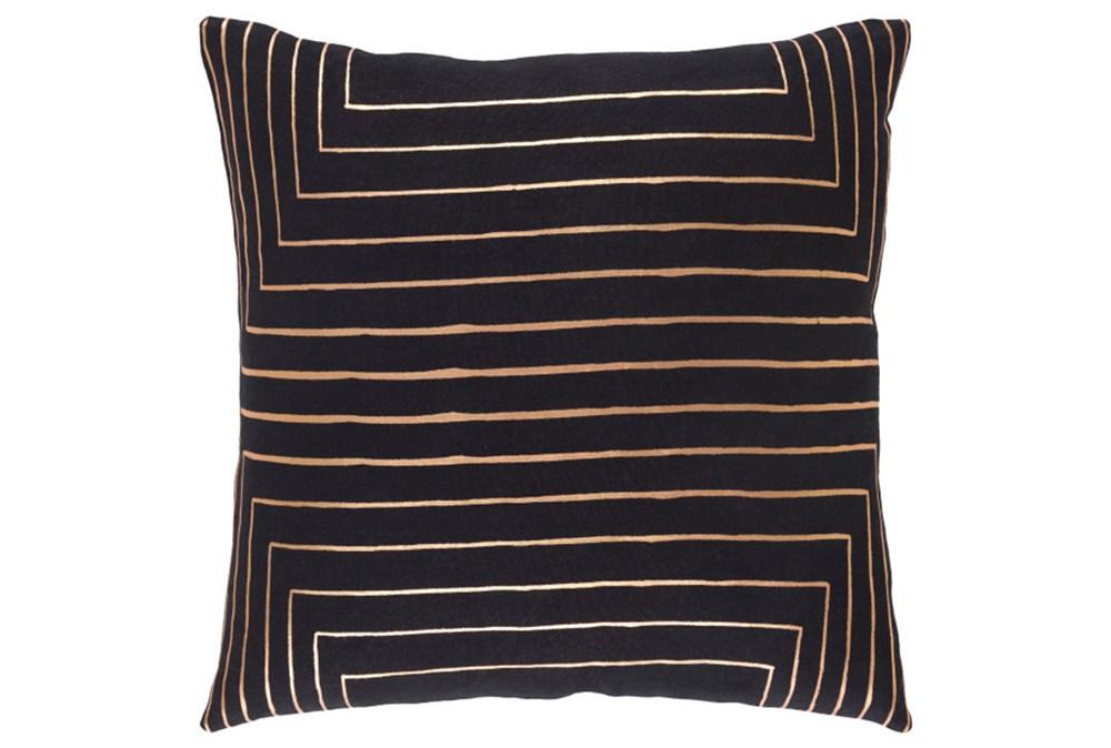Accent Pillow-Linear Black 18X18