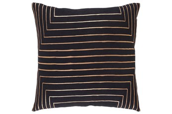 Accent Pillow-Linear Black 18X18