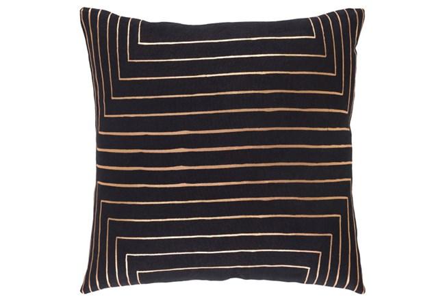 Accent Pillow-Linear Black 18X18 - 360