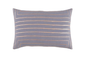Accent Pillow-Linear Grey 19X13