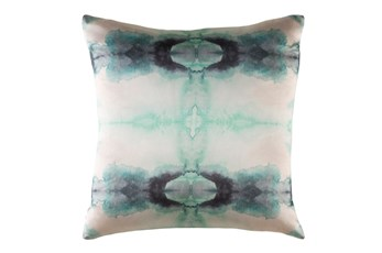 Accent Pillow-Kelsey Watercolor Aqua 18X18