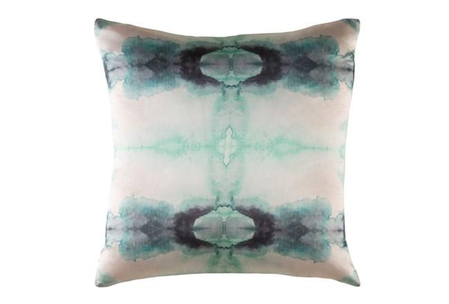 Accent Pillow-Kelsey Watercolor Aqua 18X18 - 360
