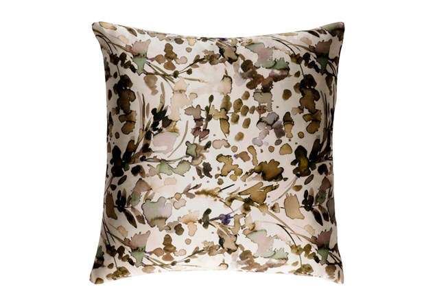 Accent Pillow-Watercolor Leaves Tan 18X18 - 360
