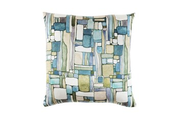 Accent Pillow-Watercolor Mosaic Green 20X20