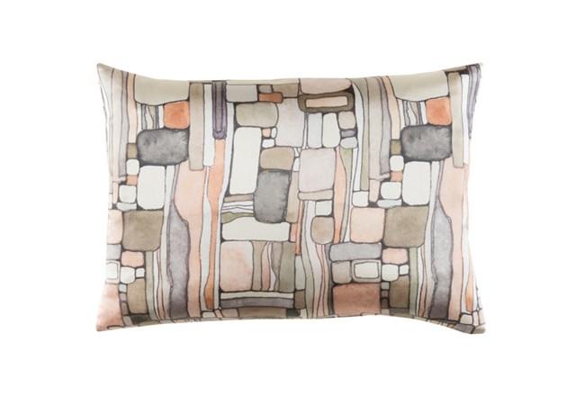 Accent Pillow-Watercolor Mosaic Peach 19X13 - 360