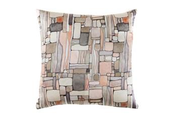 Accent Pillow-Watercolor Mosaic Peach 20X20