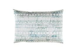 Accent Pillow-Watercolor Bubbles Aqua 19X13
