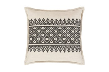 Accent Pillow-Black Lace Band 20X20