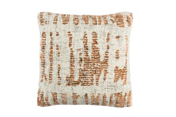 Accent Pillow-Aged Boucle Orange 20X20