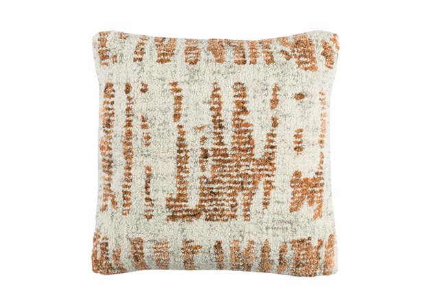 Accent Pillow-Aged Boucle Orange 20X20 - 360