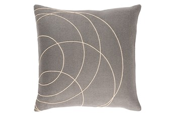 Accent Pillow-Felt Circles Grey 18X18