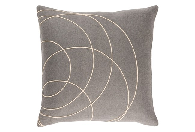 Accent Pillow-Felt Circles Grey 18X18 - 360