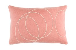 Accent Pillow-Felt Circles Mauve 19X13