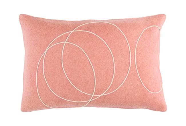 Accent Pillow-Felt Circles Mauve 19X13 - 360