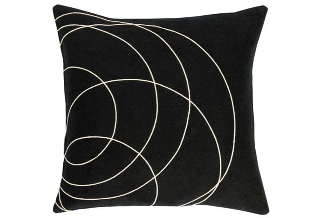 Accent Pillow-Felt Circles Black 18X18 - 360
