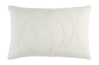 Accent Pillow-Felt Circles Silver 19X13