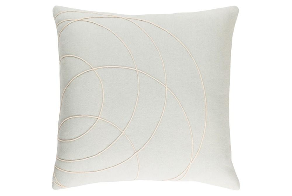 Accent Pillow-Felt Circles Silver 18X18
