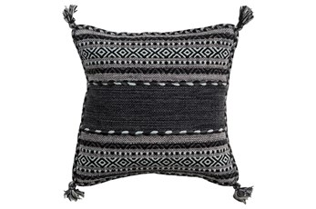 Accent Pillow-Black Tassels 20X20