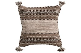 Accent Pillow-Mocha Tassels 20X20