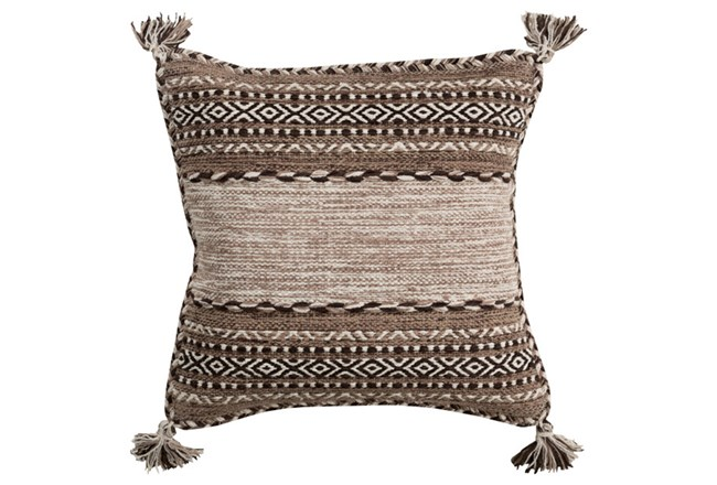Accent Pillow-Mocha Tassels 20X20 - 360