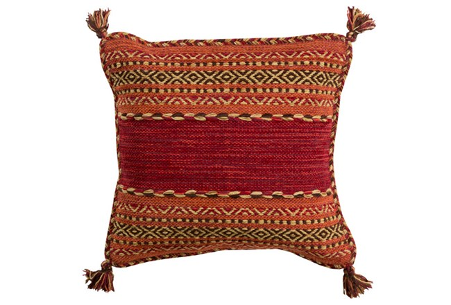 Accent Pillow-Orange Tassels 18X18 - 360