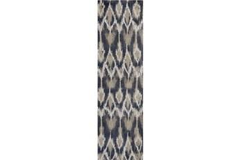 27X90 Rug-Cortona Ikat Grey