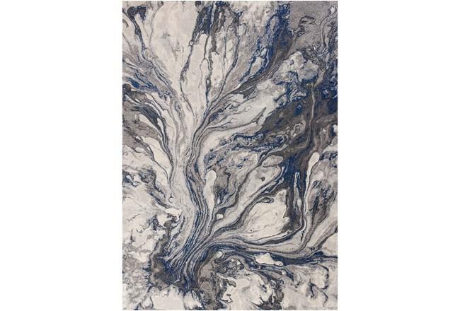 63X91 Rug-Grey/Blue Marble Swirl - 360
