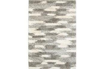 63X90 Rug-Beverly Shag Grey Tones