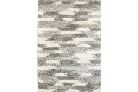 118X154 Rug-Beverly Shag Grey Tones