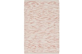 48X72 Rug-Cotton Striations Orange